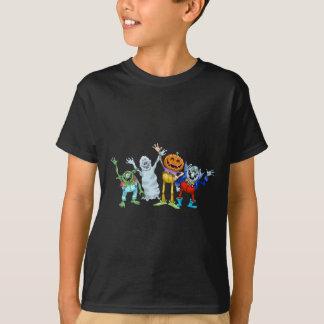 Camiseta Ondulação das criaturas dos desenhos animados do