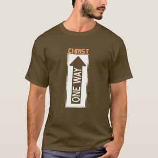 Camiseta One Way-Christ Branco Cor de laranja