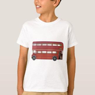 Camiseta Ônibus do vermelho do autocarro de dois andares