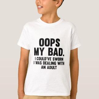 Camiseta Oops meu mau