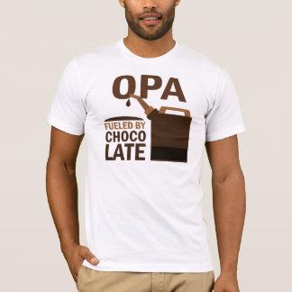 Camiseta Opa abasteceu-se pelo chocolate