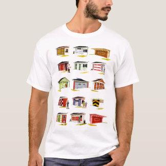 Camiseta Opções retros da porta da garagem de Sunurbs do