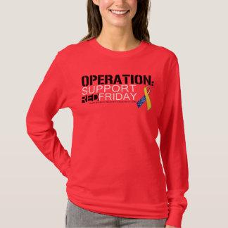 Camiseta Operação: Vermelho sexta-feira do apoio