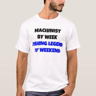Camiseta Operador pela legenda da pesca da semana em o fim