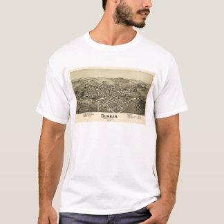 Camiseta Opinião aérea Dunbar, Pensilvânia (1900)