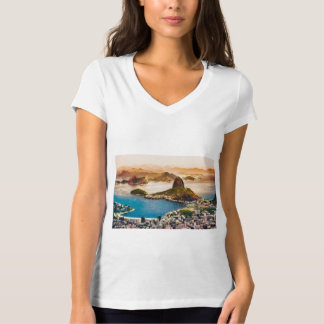 Camiseta Opinião da arquitectura da cidade de Rio de