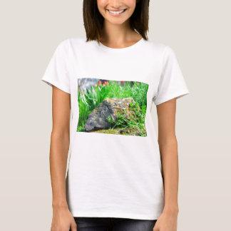 Camiseta Opinião do Fim-acima de um gramado decorativo em
