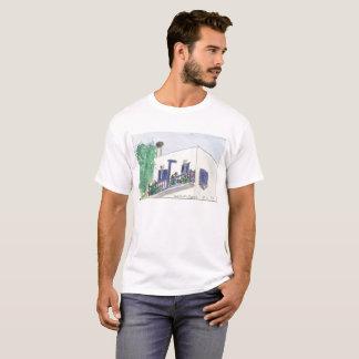 Camiseta Opinião quadrada de Mykonos Laki em um t-shirt