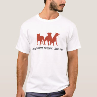 Camiseta Opor a legislação do específico da raça