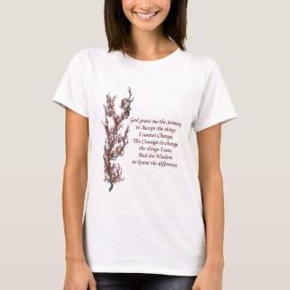 Camiseta Oração inspirada da serenidade das flores