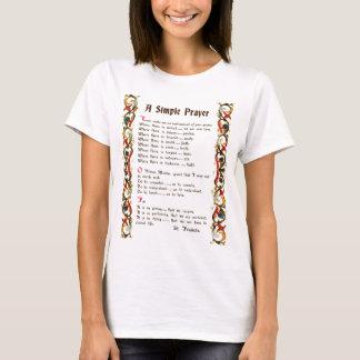 Camiseta oração simples da paz por St Francis de Assisi