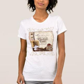 Camiseta Oração & t-shirt da mulher do chocolate