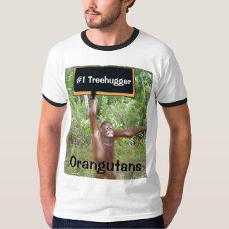 Camiseta Orangotango do número um #1 Treehugger