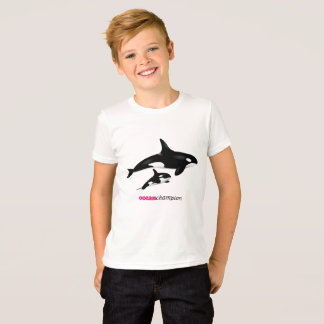 Camiseta Orcas da mãe e do bebê