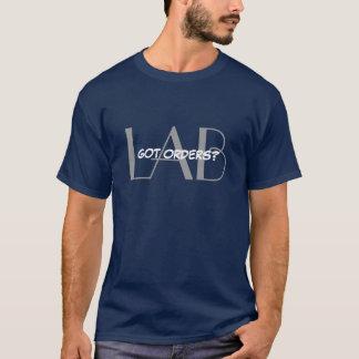 Camiseta Ordens obtidas - flebotomia/laboratório