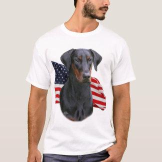 Camiseta Orelha natural uncropped do pinscher do Doberman