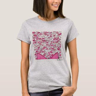 Camiseta Orelhas de gato cor-de-rosa - a roupa das mulheres