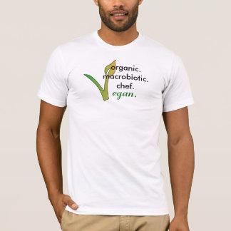 Camiseta organic.macrobiotic.chef., vegan.