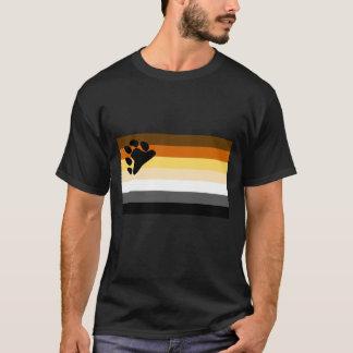 Camiseta Orgulho alegre da bandeira LGBT do urso
