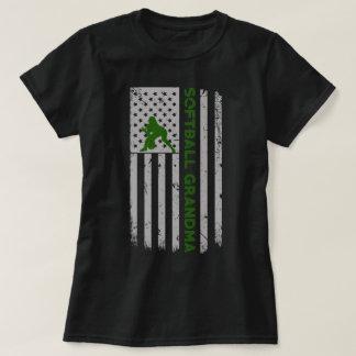 Camiseta Orgulho da bandeira dos E.U. da avó do softball