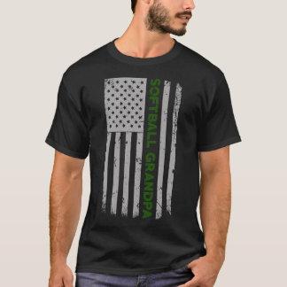 Camiseta Orgulho da bandeira dos E.U. do vovô do softball