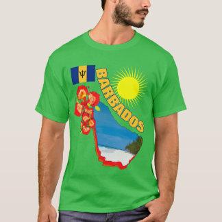 Camiseta Orgulho da flor de Barbados & do gráfico