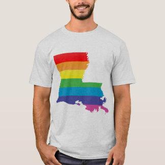Camiseta orgulho de louisiana. listrado