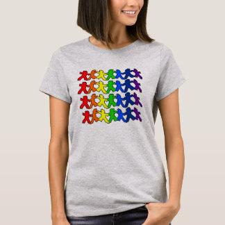 Camiseta Orgulho de papel da boneca do arco-íris