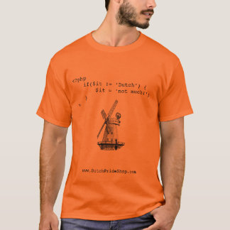 Camiseta Orgulho do Dutch do geek