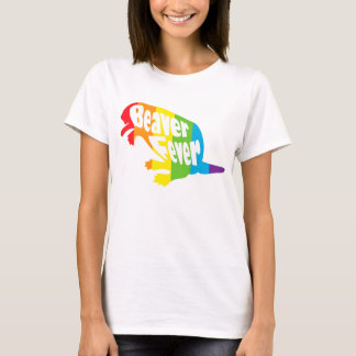 Camiseta Orgulho engraçado da lésbica LGBT da febre do