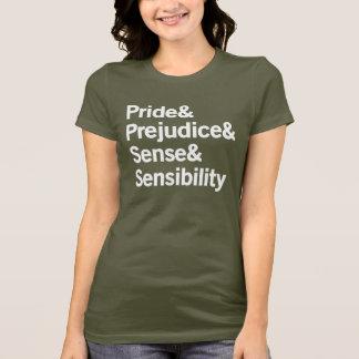 Camiseta Orgulho & preconceito & sentido & sensibilidade