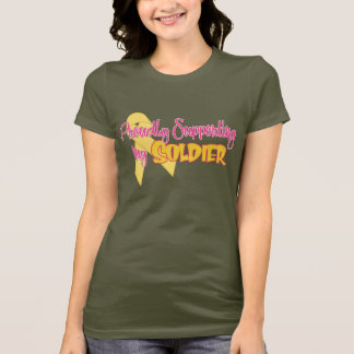 Camiseta Orgulhosa apoiando meu soldado