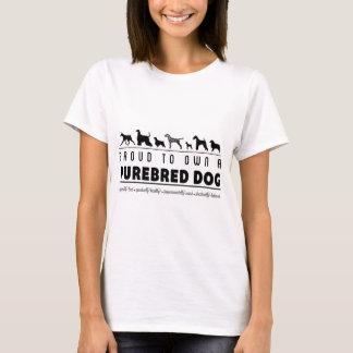 Camiseta Orgulhoso ao próprio um cão do puro-sangue: Preto