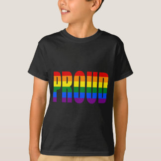 Camiseta ORGULHOSO (arco-íris)
