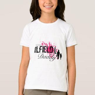 Camiseta Orgulhoso de meu pai do campo petrolífero (rosa)