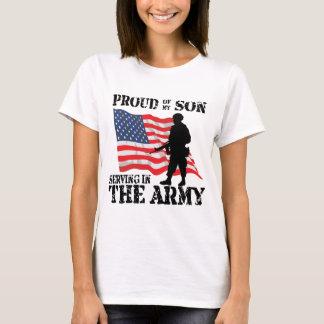 Camiseta Orgulhoso de meu serviço do filho no exército