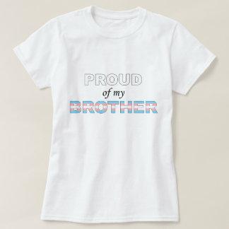 Camiseta Orgulhoso de meu transporte LGBT do irmão