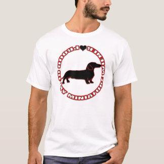 Camiseta Orgulhoso de meu Wiener diminuto