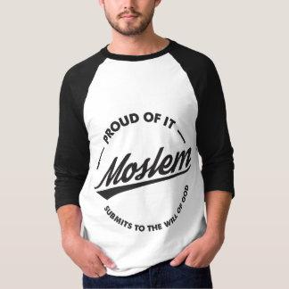 Camiseta Orgulhoso dele Raglan muçulmano