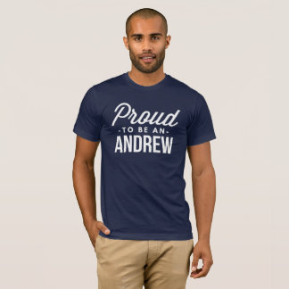 Camiseta Orgulhoso ser um Andrew