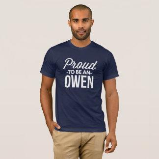 Camiseta Orgulhoso ser um Owen