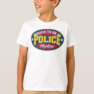 Camiseta Orgulhoso ser um sobrinho da polícia