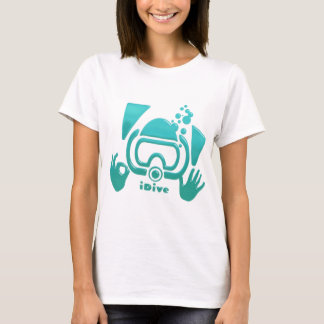 Camiseta original APROVADO iDive do mergulhador de
