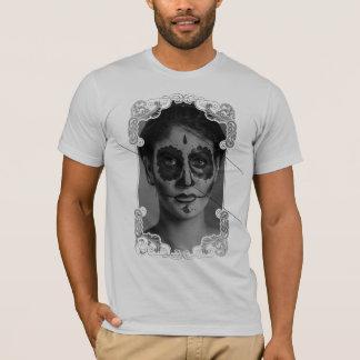 Camiseta Ornament Flower Girl Skull
