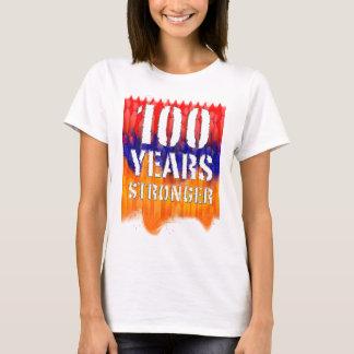 Camiseta Os 100 anos o t-shirt básico de mulheres arménias