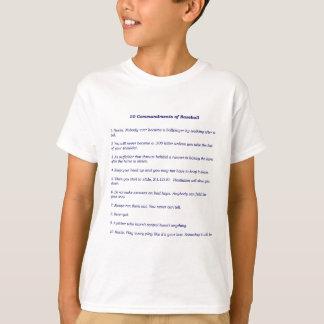 Camiseta Os 10 mandamentos do basebol