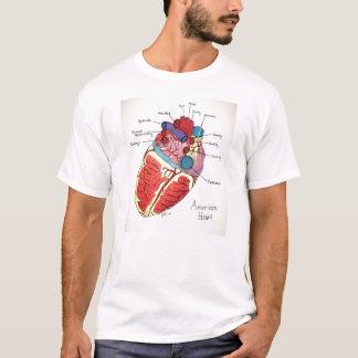 Camiseta Os 12 princípios de 9/12 de projeto - coração