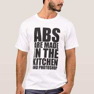 Camiseta Os Abs são feitos na cozinha e no Photoshop -