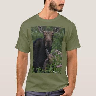 Camiseta Os alces de Dale & o t-shirt da vitela (MOATACAST)