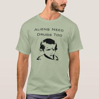 Camiseta Os aliens precisam drogas demasiado